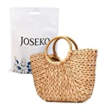 Summer Beach Bag, JOSEKO Women Straw Handbag Top Handle Shoulder Bag Travel Tote Purse
