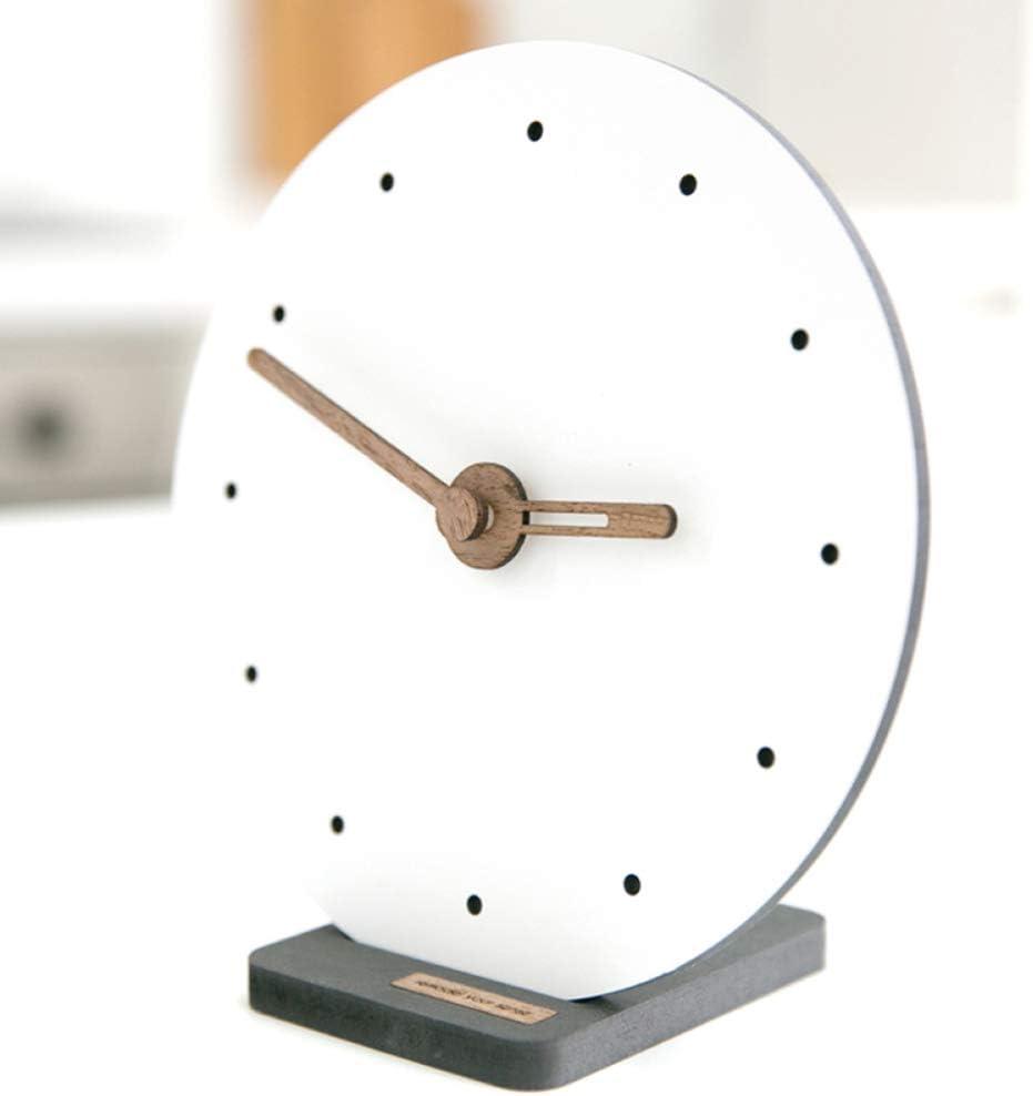 LIHUAN Reloj De Sobremesa Salón De Reloj De Mesa Decoración Simple Péndulo Reloj Creativo Pequeño Reloj,E-9inch