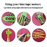 HONEYSEW Set of 15 Size Fabric Bias Tape Maker