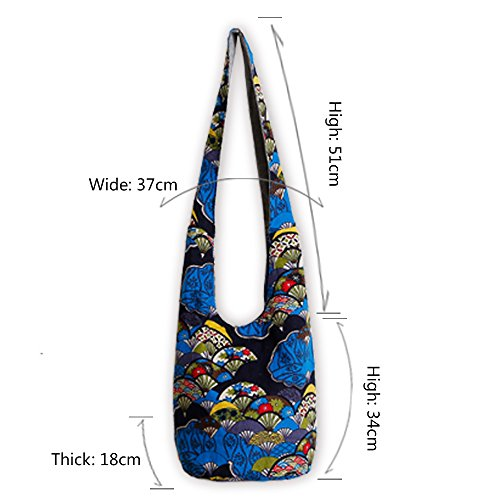 Ethnic Style Bag Lady's Everyday Crossbody Shoulder Bags Women Tourist Cotton Fabric Bag by miaomiaojia (Image #5)