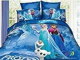 3d Cartoon Bedding Sets Princess Elsa & Anna (Queen, 3)