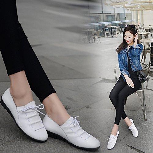 Mesdames Chaussures Casual Chaussures Plates Confortables Pois Chaussures Mère Chaussures , noir , 36,5 EUR