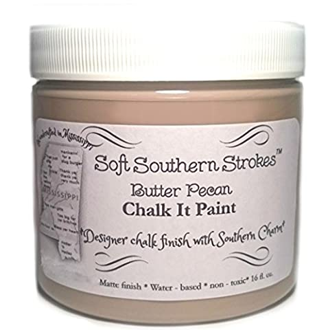 Chalk it Paint for Furniture Art Crafts Glass Metal and More! Butter Pecan 16 Oz. 1 Pint - Glaze Wood Cabinets