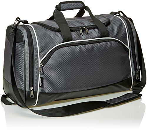(AmazonBasics Medium Sports Duffel Gym Bag - Graphite )
