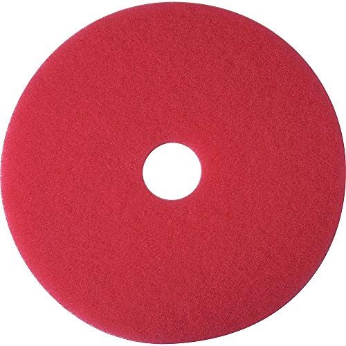 Staples 663604 Buffing Floor Pad Red 17 In