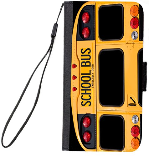 UKBK Back Of A Yellow School Bus Design Galaxy S7 PU Leather Wallet Flip Case with Kickstand and Magnetic Flap (NOT for Galaxy S7 Edge) (Bus School Cases)