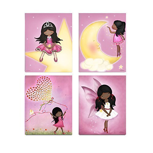 amazon com african american girls posters kids bedroom wall art rh amazon com teenage girl bedroom wall decor ideas wall decor ideas for girl bedroom