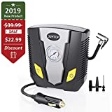 JUMTOP 12V DC Tire 150 Psi Electric Portable Compressor Pump with Gauge for Car, Truck, Bicycle or Basketballs, Air Bed Mattress and Other Inflatables