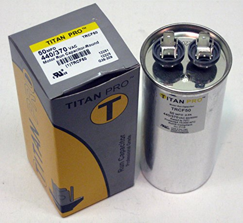 Room Air Conditioner Replacement Parts TitanPro TRCF50 HVAC Round Motor Run Capacitor. 50 MFD/UF 440/370 Volts by Air Parts