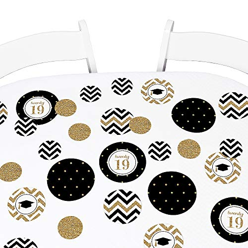 (Big Dot of Happiness Gold Tassel Worth The Hassle - 2019 Graduation Party Giant Circle Confetti - Graduation Party Decorations - Large Confetti 27 Count)