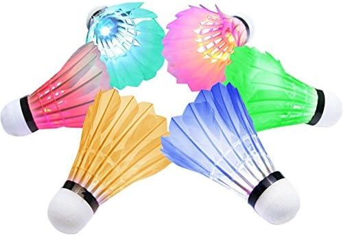 6 farbige Federbälle Badminton Federball Badmintonbälle Ball Bälle TOP Preis Bälle