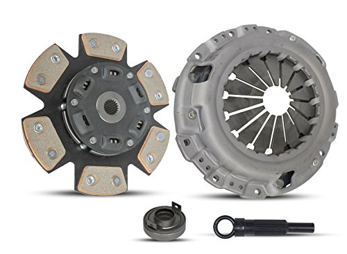 (Clutch Kit Works With Chrysler Sebring Dodge Stratus Mitsubishi Eclipse Lx Spyder 1990-2005 2.4L L4 GAS SOHC Naturally Aspirated (Select Engineered Flywheel Spec: -0.61; 6-Puck Disc Stage 2))