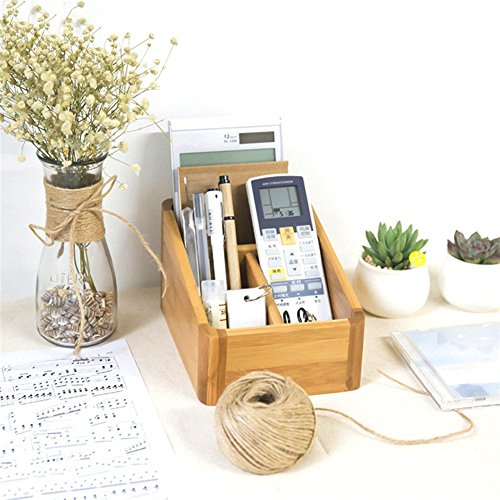 Yafeco Wooden Office Mini Desk Organizer & Mail Rack for Desktop, Tabletop, or Counter - for Office Supplies, Desk Accessories, Mail,Desktop Organizer,Desk Makeup Organizer
