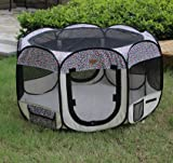 New Pet Dog Cat Tent Playpen Exercise Play Pen Soft Crate