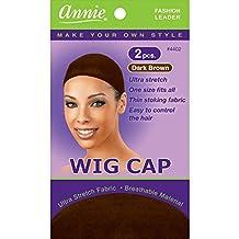 Annie Wig Cap 2pc Dark Brown #4402