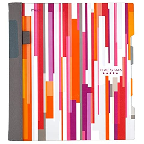 Five Star Advance Spiral Notebook, 2 Subject, College Ruled, 11 x 8.5 Inch, Stripe Design (73139) (5 Star 1 Subject College Ruled)
