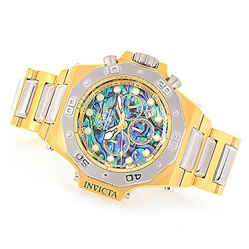 Invicta Men's 'Akula' Quartz Gold and Stainless Steel Casual Watch, Color:Two Tone (Model: 25018)