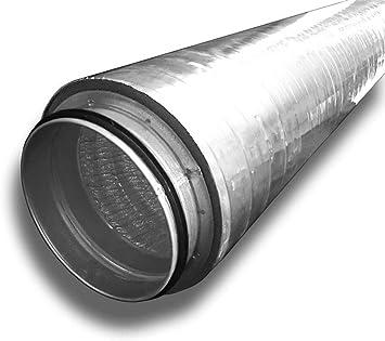 Tubo de ventilación aislado aislado, sistema de entrada de aire de salida, diámetro 100, longitud 1 m: Amazon.es: Bricolaje y herramientas
