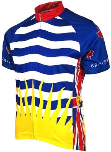 Adrenaline Promotions Canadian Provinces British Columbia Cycling Jersey, Multi, -