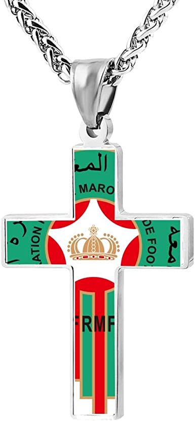 LUQeo Cross Necklace Number Christ Crucifix Necklace Cool Lord Jewelry Pendant