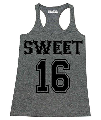 P&B Sweet 16 Birthday Women's Tank Top, S, H. Charcoal