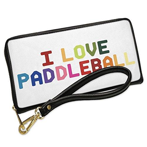 Wallet I Love Paddleball,Colorful Men's Bifold ID Case - (Paddleball Case)