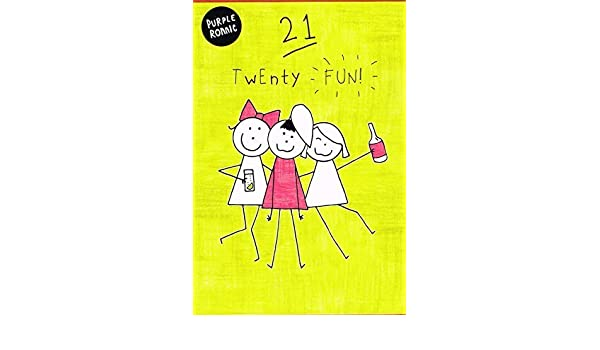Amazon Purple Ronnie 21 Twenty Fun 21St Birthday Card Office Products