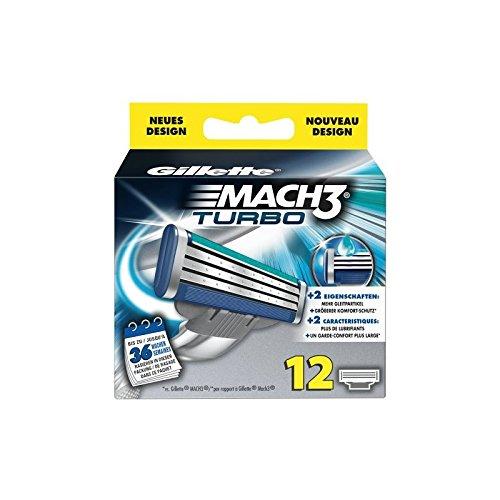 Gillette Mach3 Turbo Pack de 12 cuchillas de afeitar: Amazon.es: Alimentación y bebidas