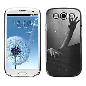 Paccase / SLIM PC / Aliminium Casa Carcasa Funda Case Cover - Zombie Dead Black White Halloween - Samsung Galaxy S3 I9300