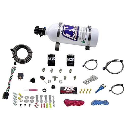 Single Nozzle System (Nitrous Express 20923-05 35-75 HP Sport Compact EFI Single Nozzle System with 5 lbs. Bottle)