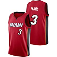 YIXUAN Hombres Jersey Camiseta Miami # 3 Dwyane