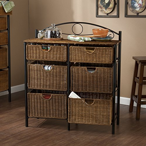 SEI Iron/Wicker Storage Chest
