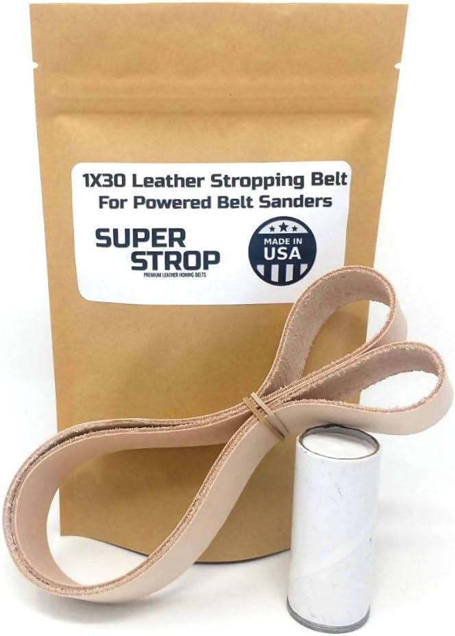 1x30 inch Leather Honing Strop Belt SUPER STROP fits 1x30 Powered Belt Sanders