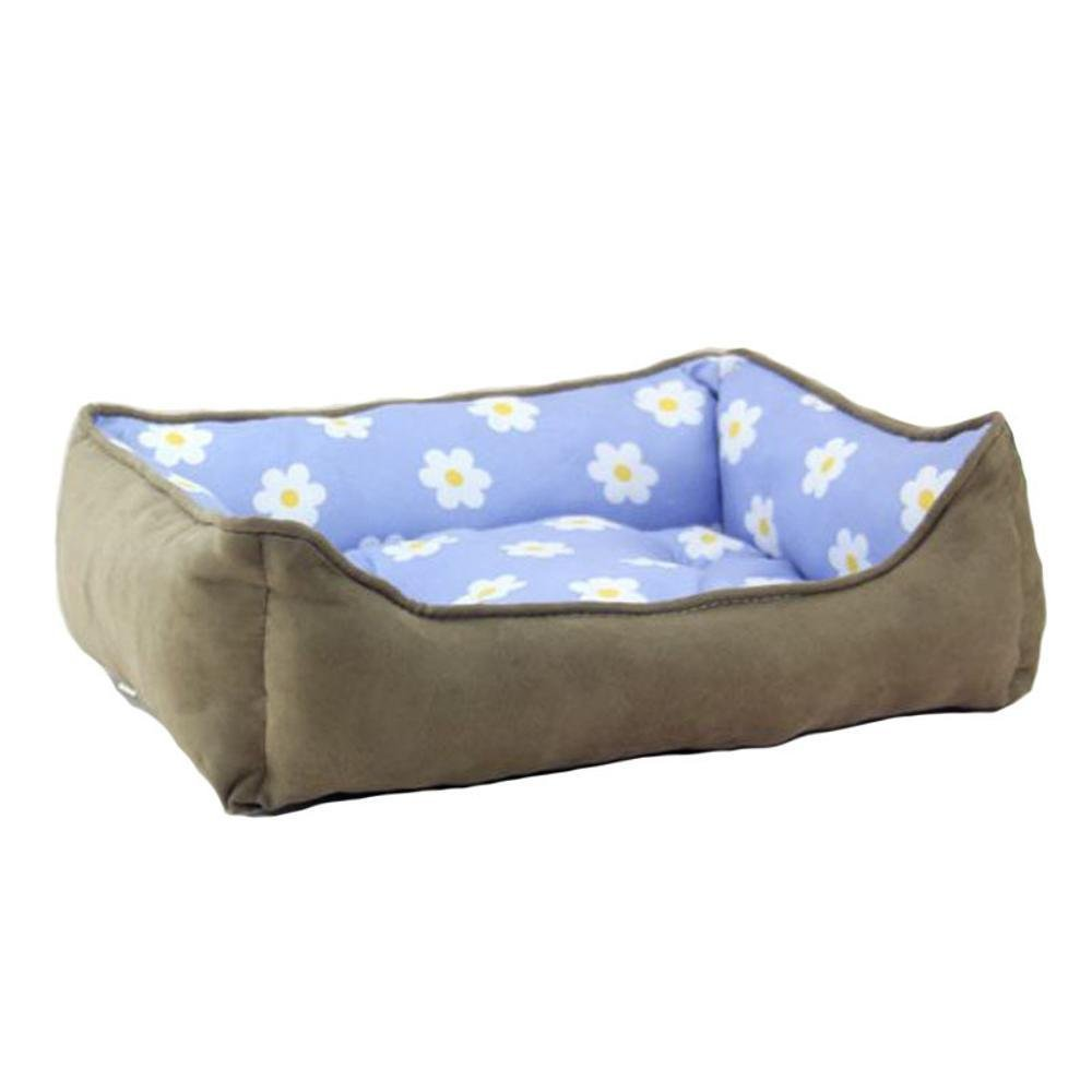 E 4535cm E 4535cm Desti Flakes Pet Bolster Dog Bed Comfort Comfort Kennel Pet nest (color   E, Size   45  35cm)