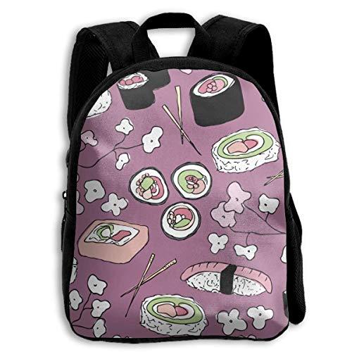 - The Children's Purple Japanese Cherry Blossom Sushi Backpack