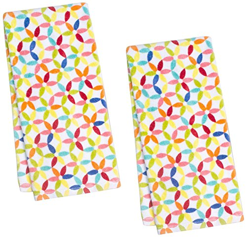 Fiesta Petite Floral Kitchen Towel, Set of 2 (Fiesta Towel)