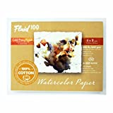 "Global Art Fluid 100 Watercolor Paper Block Cold Press 6"" x 8"" 300 lb., 10 Shts./Block"
