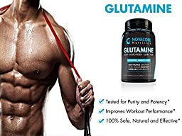 Glutamine 1400mg - Pure Essential Amino Acid - L-Glutamine Diet Supplement for Workout Recovery, Optimum Fitness Performance, Lean Muscle Growth and Better Endurance - Athlete Tested - Made in USA