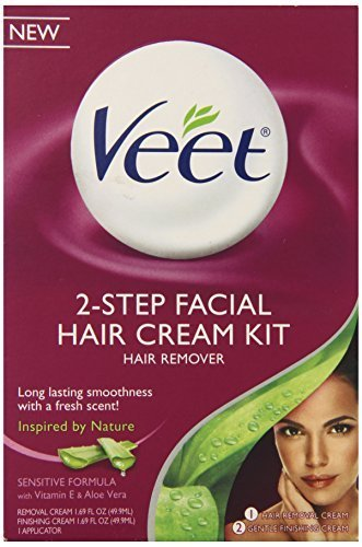 Veet Facial Hair Remover Cream Kit, 3.38 Ounce by Veet