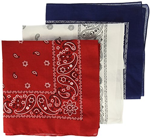 Levi's Men's 100% Cotton Bandana Headband Gift Sets, Red, White, Blue, One Size -