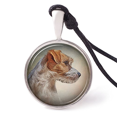 Russell Necklace Jack (Vietguild's Jack Russell Terrier Necklace Pendants Pewter Silver Jewelry)