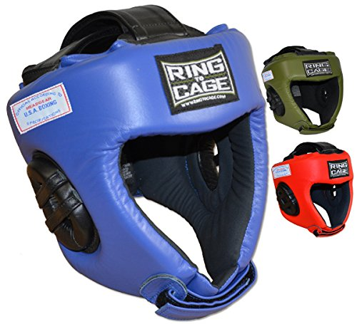 USA BOXING APPROVED Competition Headgear - 3 Colors (Blue, Medium) (Competition Boxing Ring)