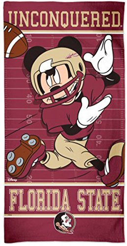 Florida State University FSU Seminoles Football Premium Beach/Dorm Towel with Spectra graphics, 30x60 inches