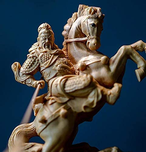 MD331極上品 武財神 三国志 関羽像 仏教工芸 精密細工 木彫仏像 仏師手仕上げ品 コレクション。