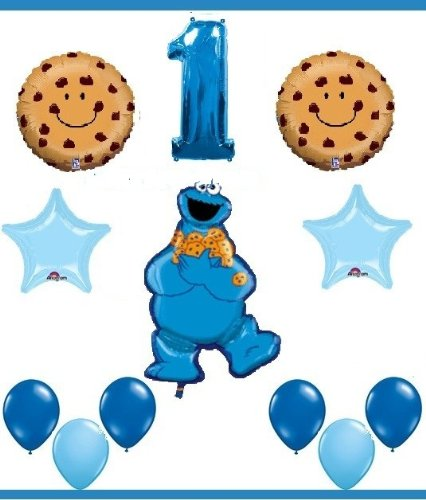 Image Unavailable Not Available For Color SESAME STREET COOKIE MONSTER First Birthday Party Supplies