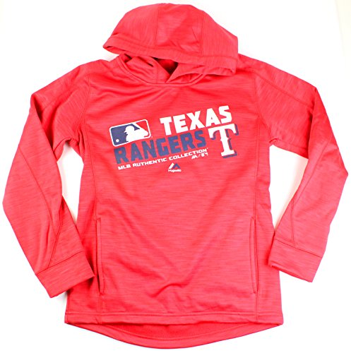 MLB Youth Authentic Collection Team Choice Streak Fleece Hoodie (Youth Medium 10/12, Texas Rangers) (Ladies Series Texas Player)