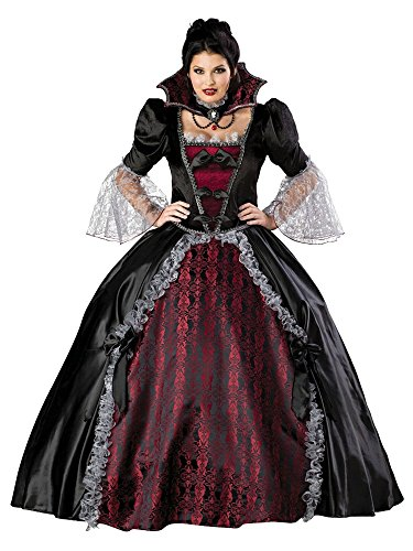 Plus Size Vampire Costumes (InCharacter Costumes Women's Plus Size Vampiress Of Versailles Costume, Black/Burgundy, XXX-Large)
