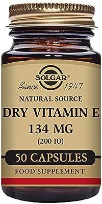 Solgar Vitamina E Seca 134 mg (200 UI) Cápsulas vegetales ...