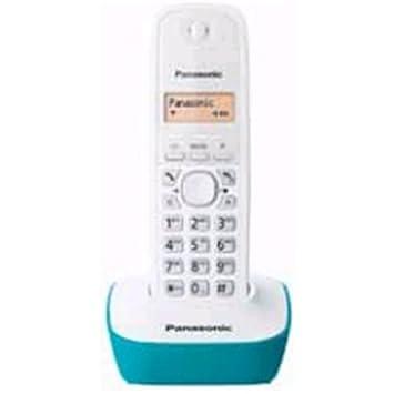 Panasonic KX-TG1611 - Teléfono fijo inalámbrico (LCD, identificador de llamadas, agenda de 50 números, tecla de navegación, alarma, reloj), color azul