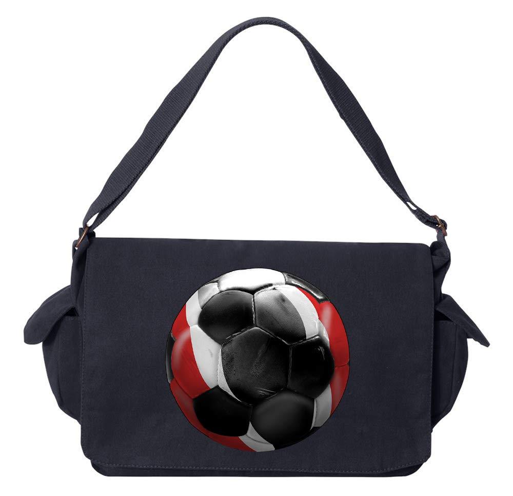 Tenacitee Trinidad Soccer Navy Brushed Canvas Messenger Bag